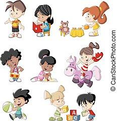 karikatúra, gyerekek