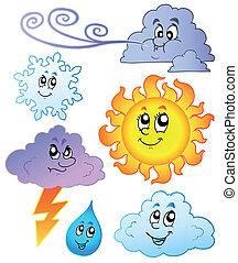 karikatúra, időjárás, arcmás