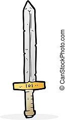karikatúra, kard