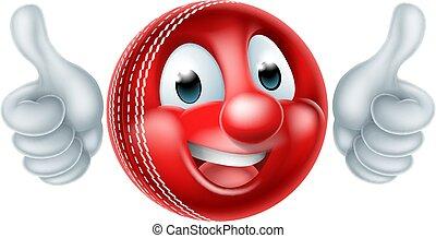 karikatúra, krikett labda, kabala
