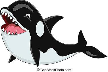 karikatúra, orca