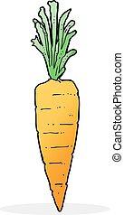 karikatúra, sárgarépa