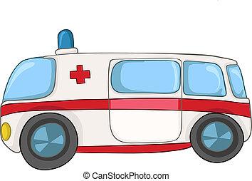karikatúra, szükséghelyzet, autó