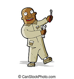 karikatúra, szerelő
