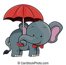 karikatur, abbildung, elefant
