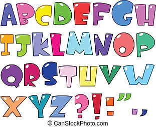 karikatur, alphabet