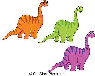 karikatur, dinosaurierer