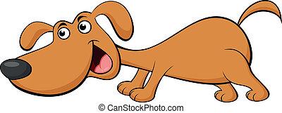 karikatur, hund, lustiges