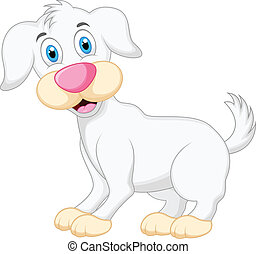karikatur, hund, reizend