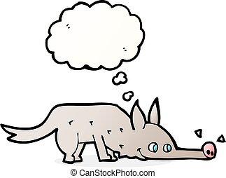 Schn ffeln boden hund gedankenblase karikatur vektor for Boden clipart