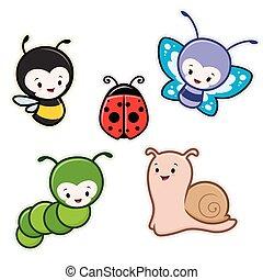 insekten karikatur fliegen grille k fer insekten. Black Bedroom Furniture Sets. Home Design Ideas