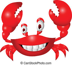karikatur, krabbe, lustiges
