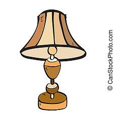 karikatur, lampe, freigestellt, abbildung, symbol.