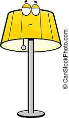 karikatur, lampe, gelangweilte