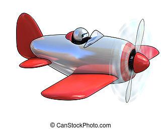 karikatur, mögen, motorflugzeug