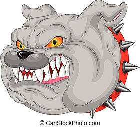 karikatur, maskottchen, bulldogge