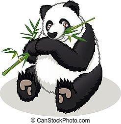 karikatur, panda, riesig