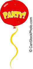 karikatur, party, balloon