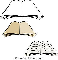 karikatur, rgeöffnete, book., eps10