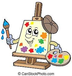 karikatur, segeltuch, künstler