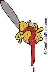 karikatur, spaghetti