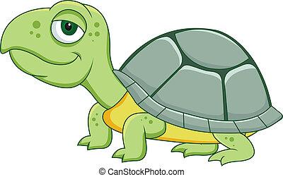karikatur, turtle