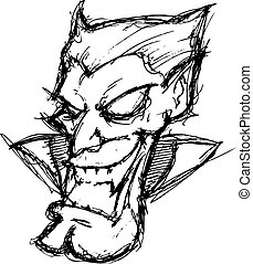 karikatur, vampir