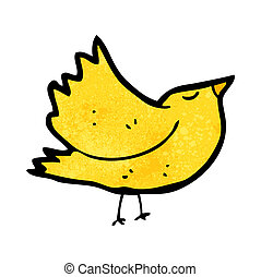 karikatur, vogel
