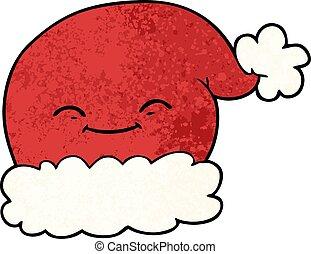 rentier hut weihnachten santa karikatur tragen. Black Bedroom Furniture Sets. Home Design Ideas