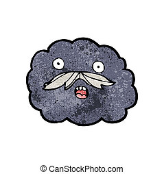 karikatur, wolke