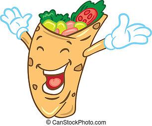 karikatura, burrito