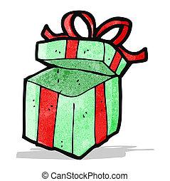karikatura, dar, vánoce