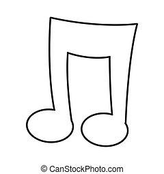 karikatura, hudba zaregistrovat, ikona