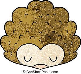 karikatura, ježek