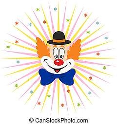 karikatura, klaun, čelit