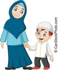 Karikatury pro matku a syna