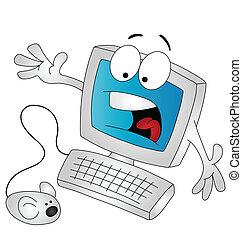karikatura, počítač
