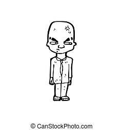 karikatura, suchý voják