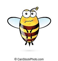 karikatura, včela