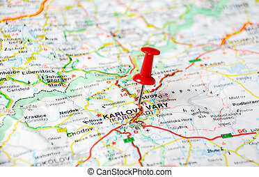 karlovy varia, repubblica ceca, mappa