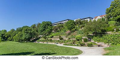karlsaue, panorama, kassel, parc