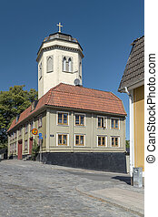 Karlshamn Karl Gustavs Church Belltower and Green Building