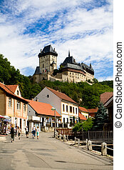 Karlstein castle and old town - Karlstein castle and streen...