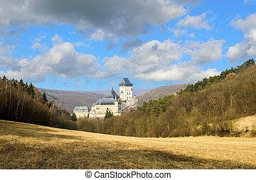 Karlstejn Castle near Prague in the Czech Republic