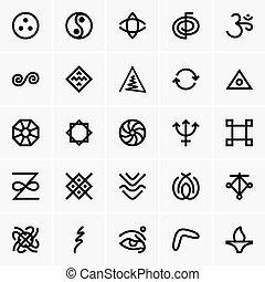 karma, iconos