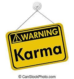 karma, sinal aviso