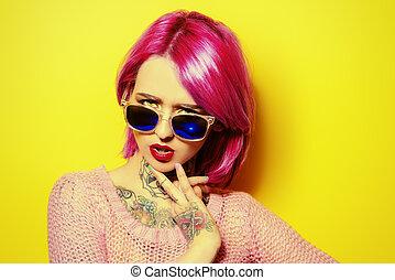 karmosin, hår färga