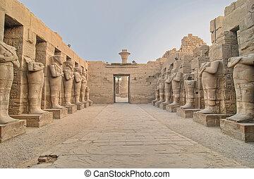 karnak, tempio, in, lussare