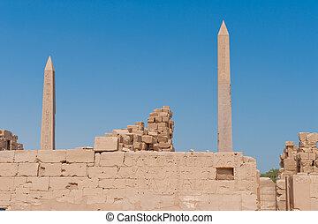 karnak, tempio, in, lussare, egitto