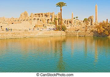 Karnak Temple, Luxor, Egypt - Obelisk of the Karnak temple,...